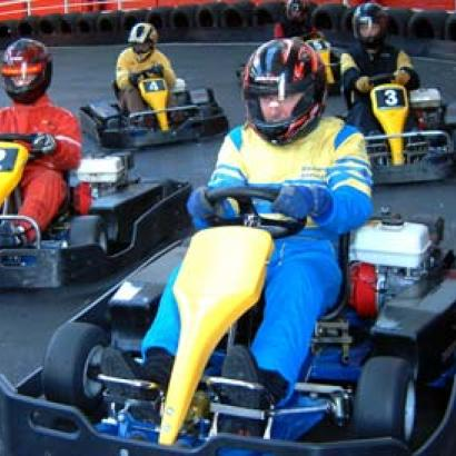 Competitive go kart race is waiting for you on the stag weekend in Berlin
