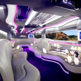 Luxurious interior of Hummer limousine