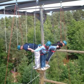 Experience adrenaline in high ropes park in Munich