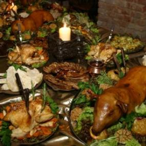 Feast on delicious medieval dinner